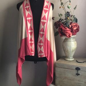 YA Los Angeles Asymmetrical Triangle Cardigan